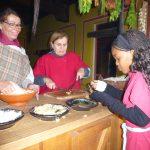 Nahledi tries Roman bread